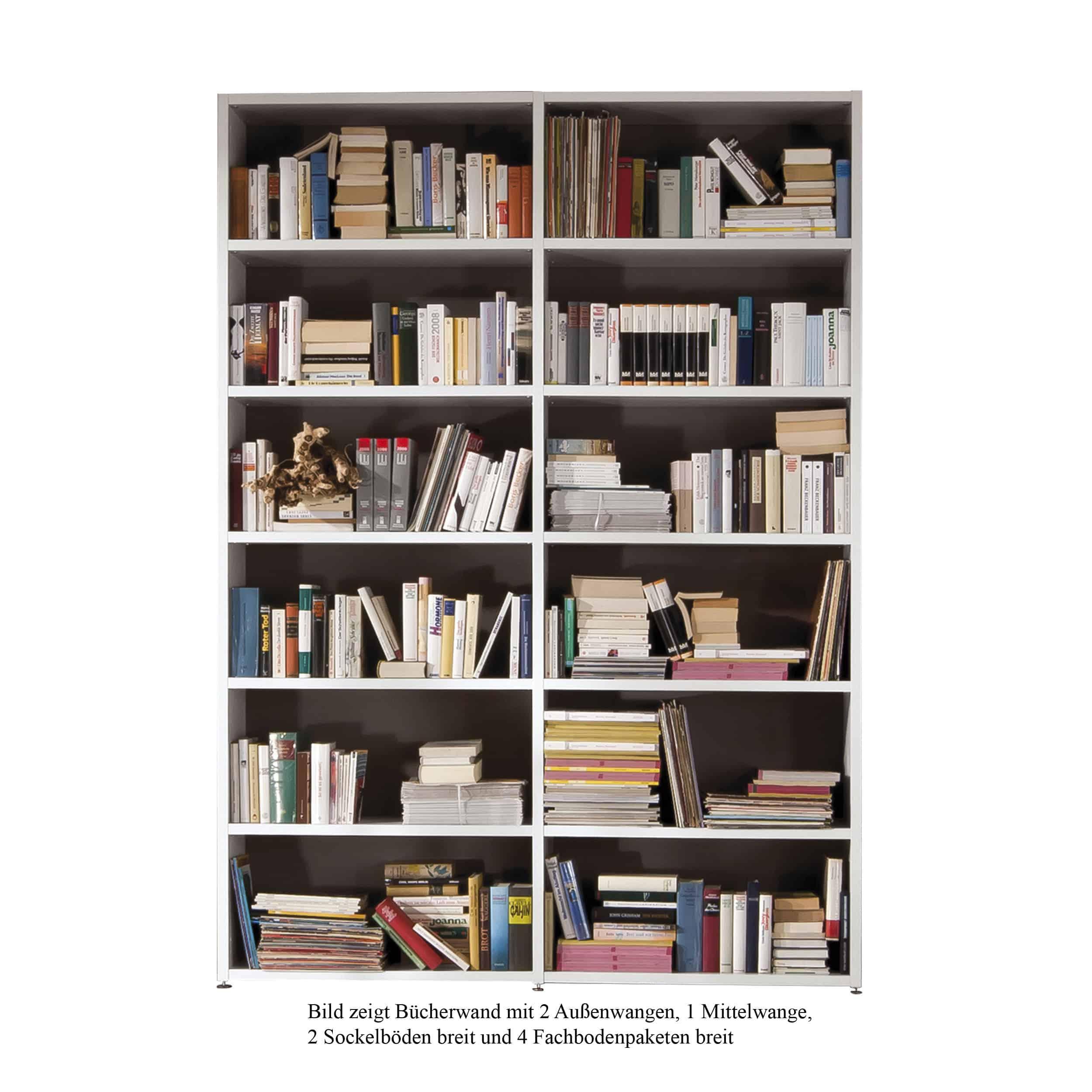 Bücherwand 2.1 Sockelboden breit