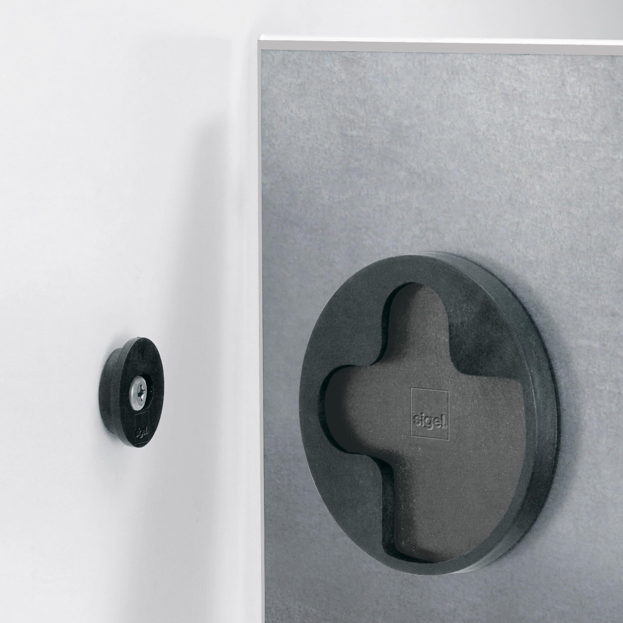 artverum® Glas-Magnetboard White-Klinker