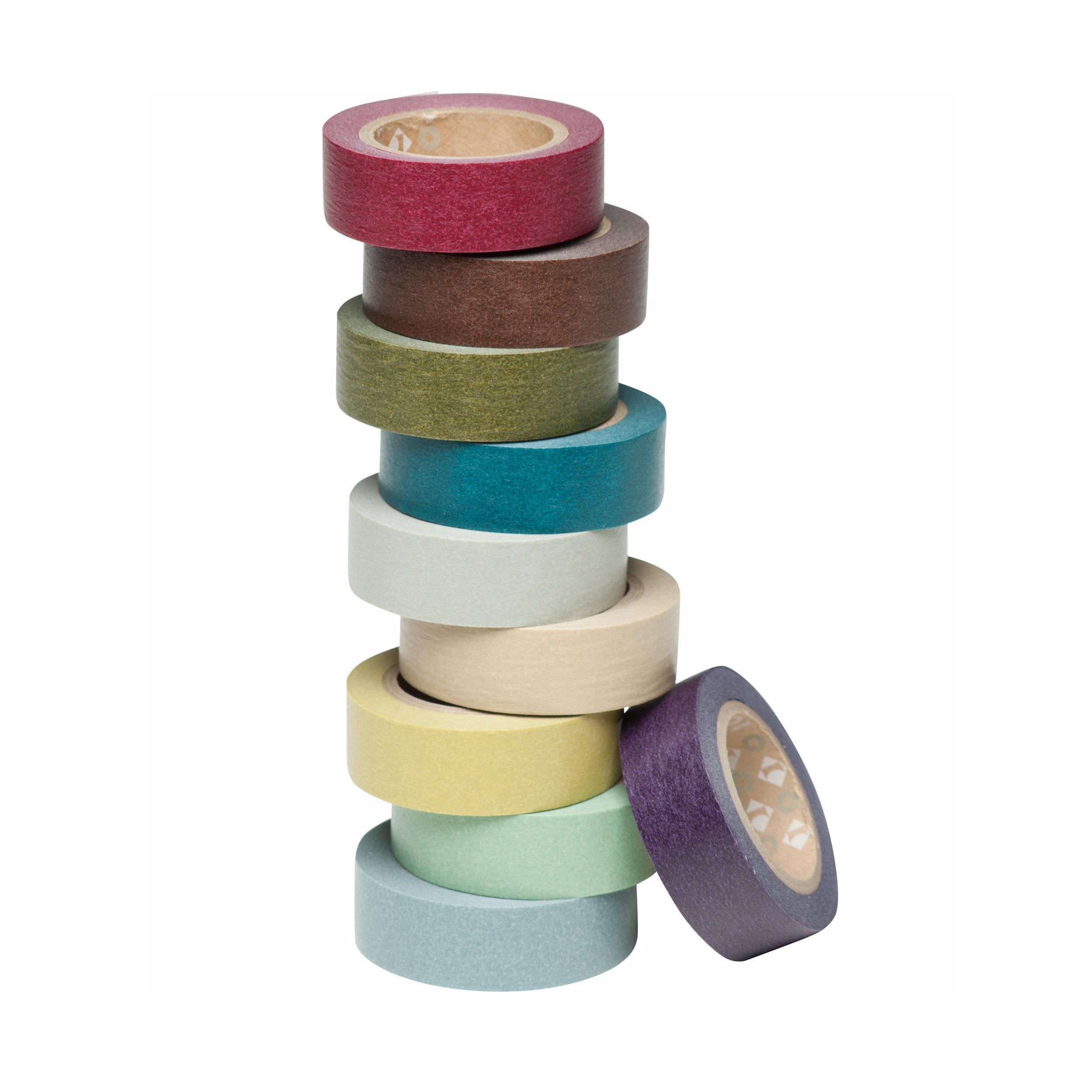 mt-Masking Tape Klebeband dark colour 10er-Set