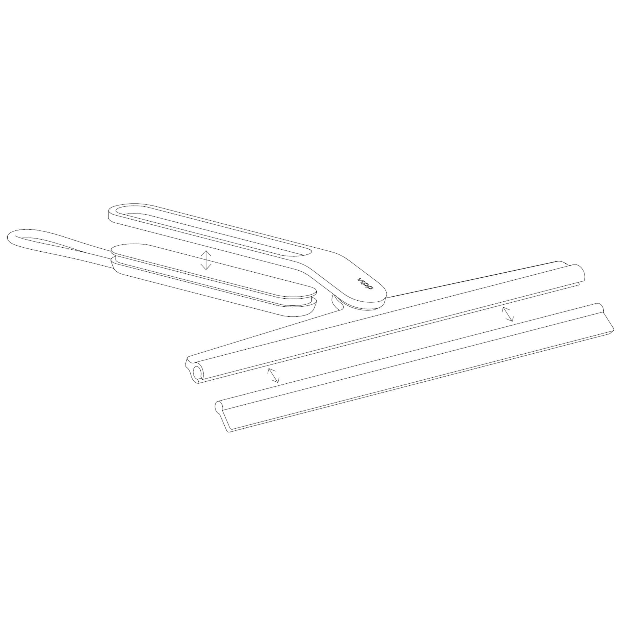 Ersatzgummilippe für Vipp 2 Duschabzieher