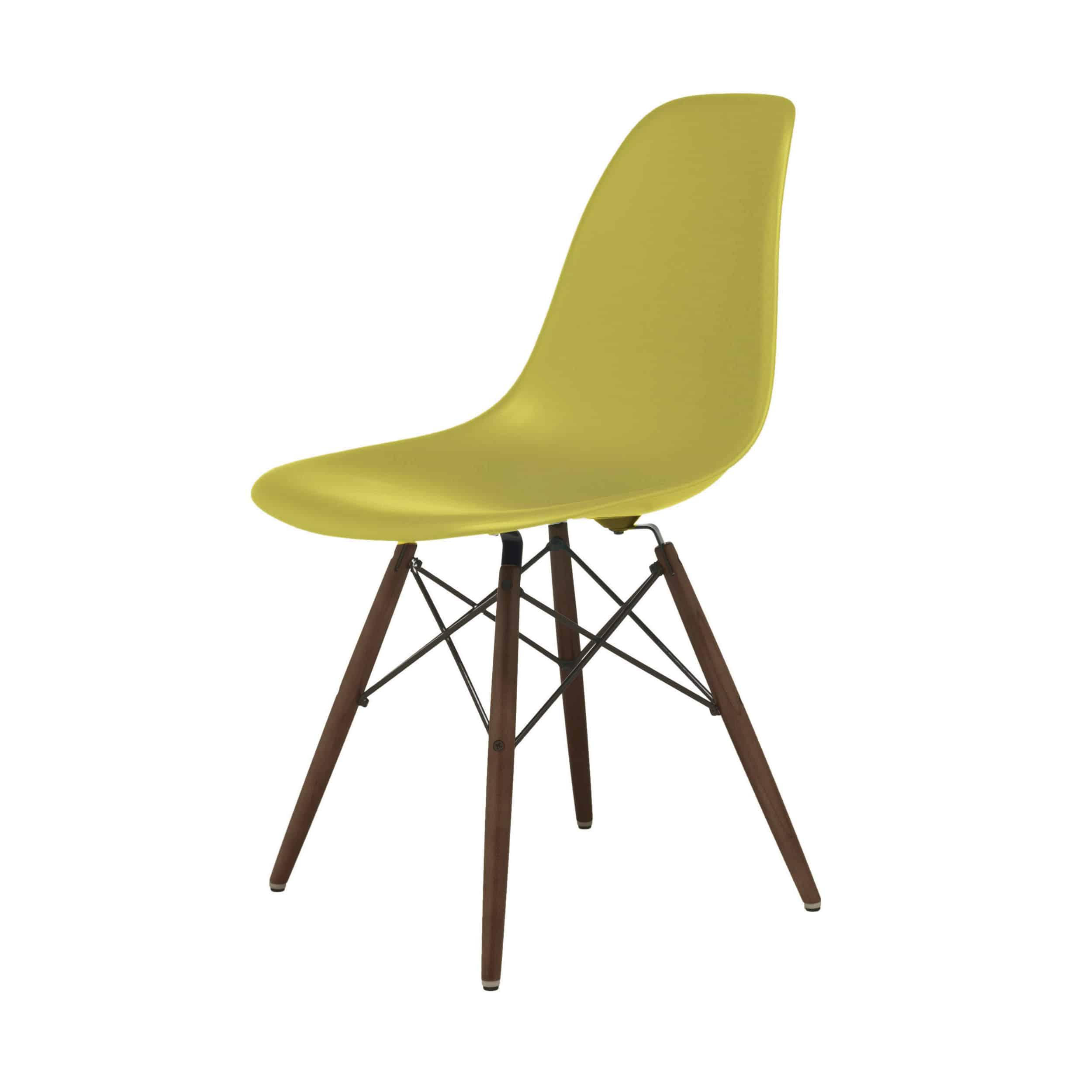 Eames Plastic Side Chair Stuhl DSW mit Kunststoffgleitern