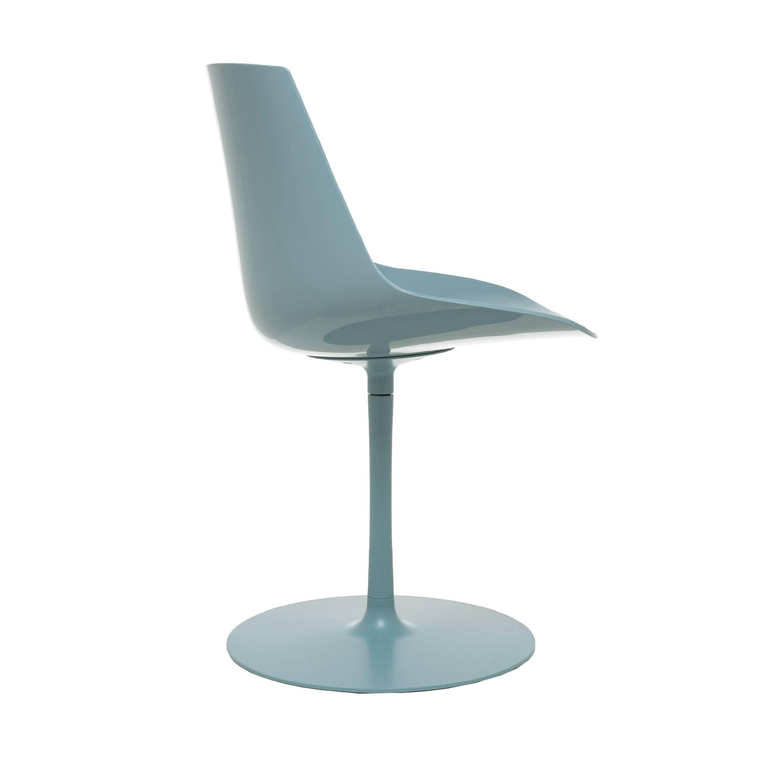 Flow Glossy Stuhl mit Tellerfuß