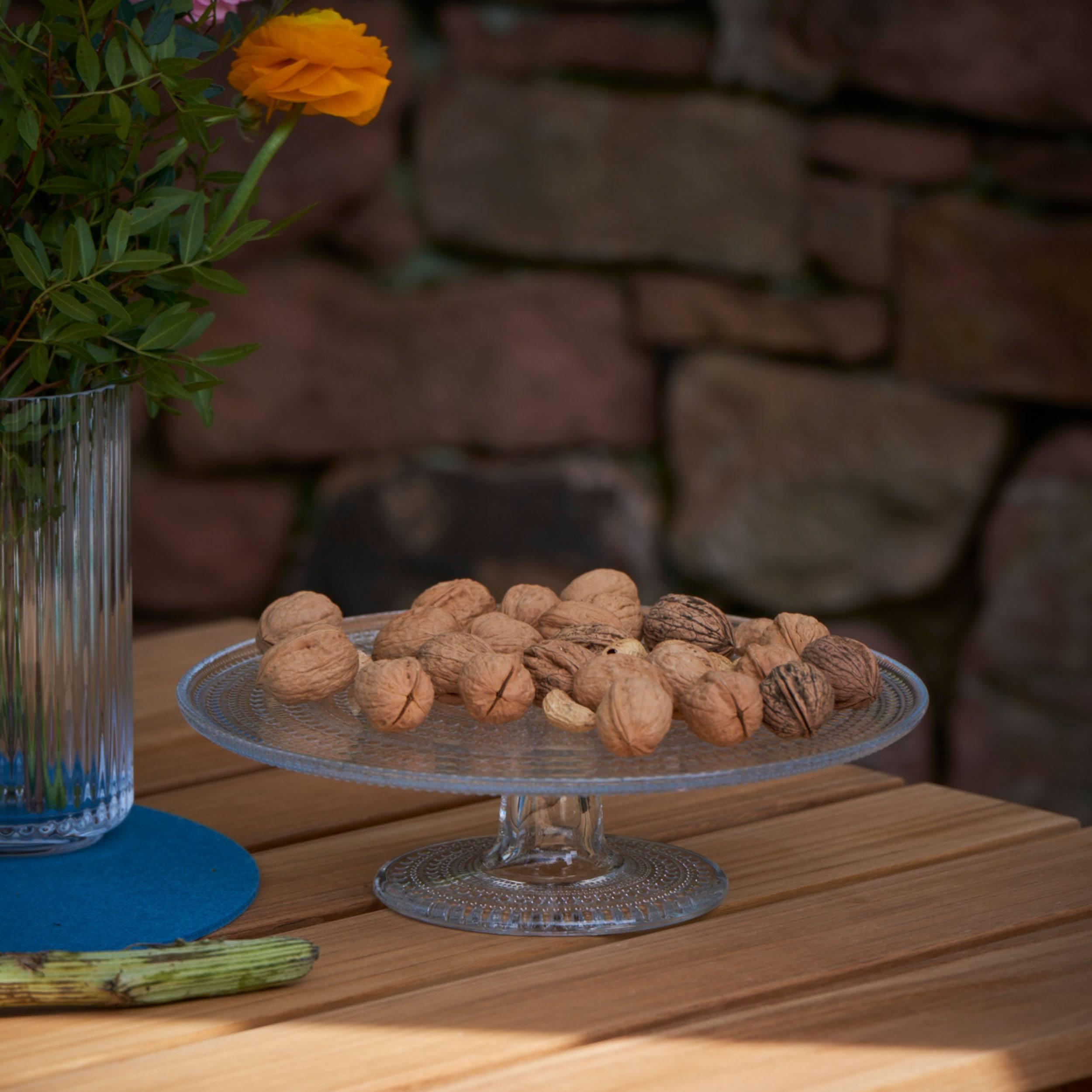 Kastehelmi Kuchenplatte mit Fuß