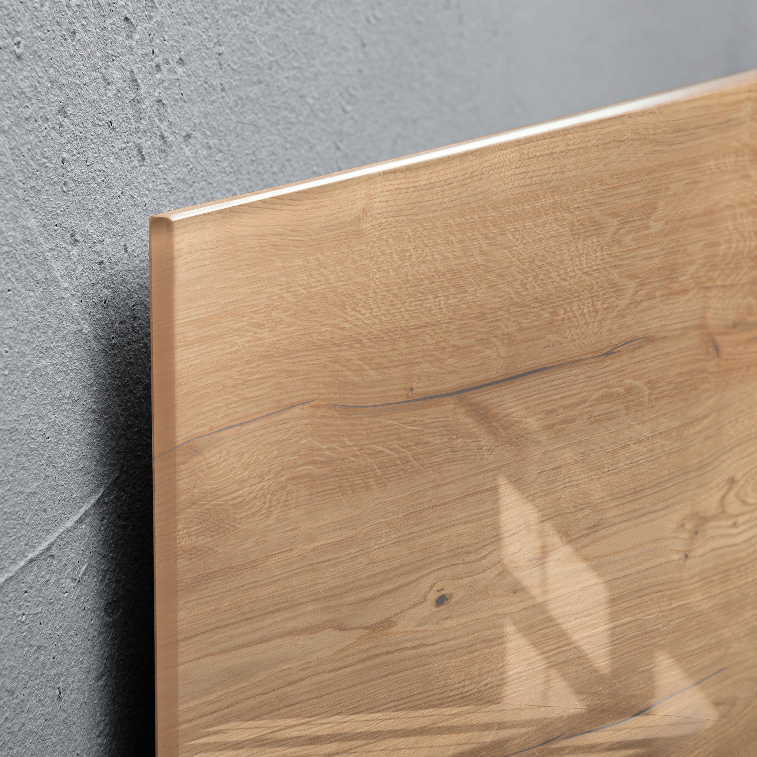 artverum® Glas-Magnetboard Natural Wood