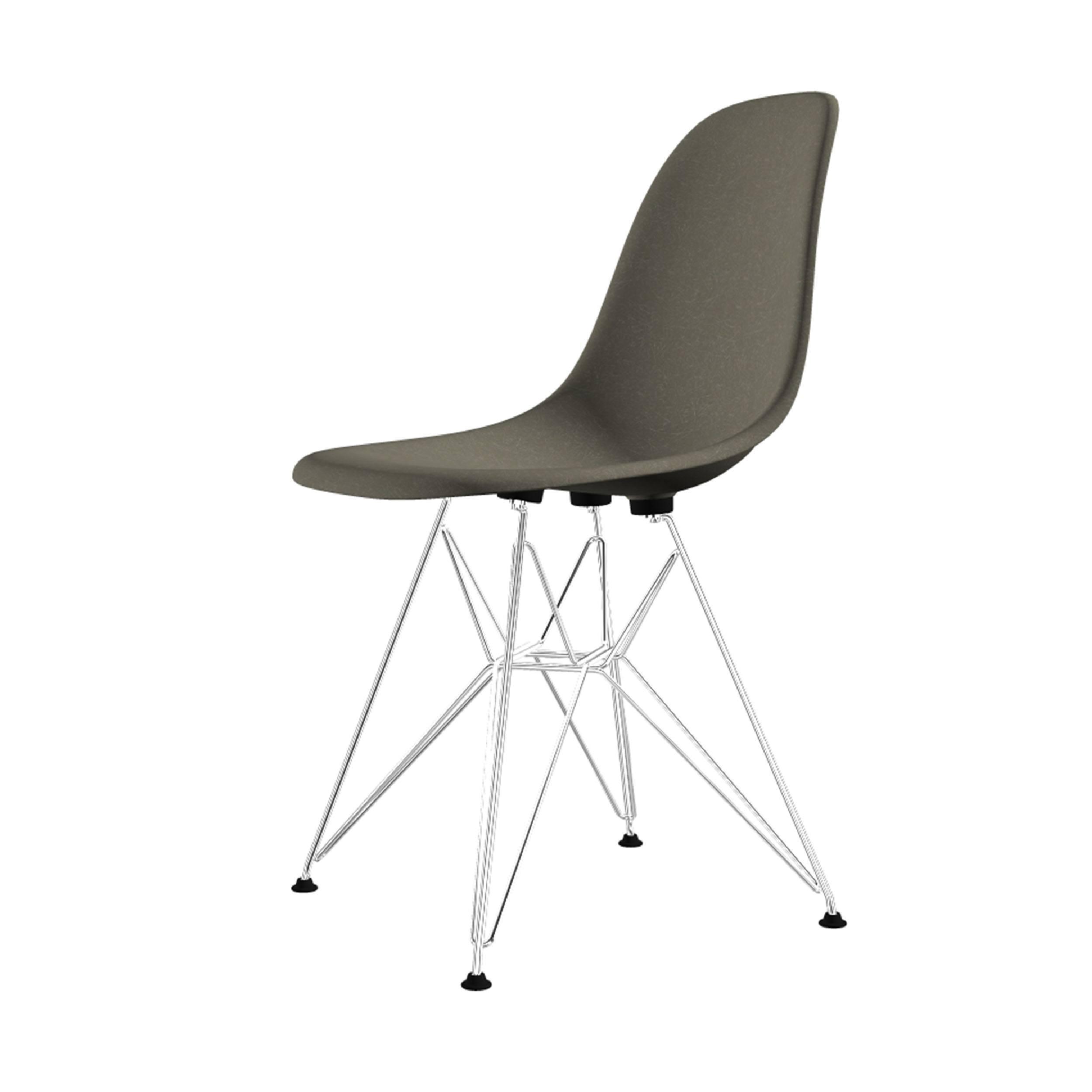 Eames Fiberglass Side Chair Stuhl DSR Filzgleiter