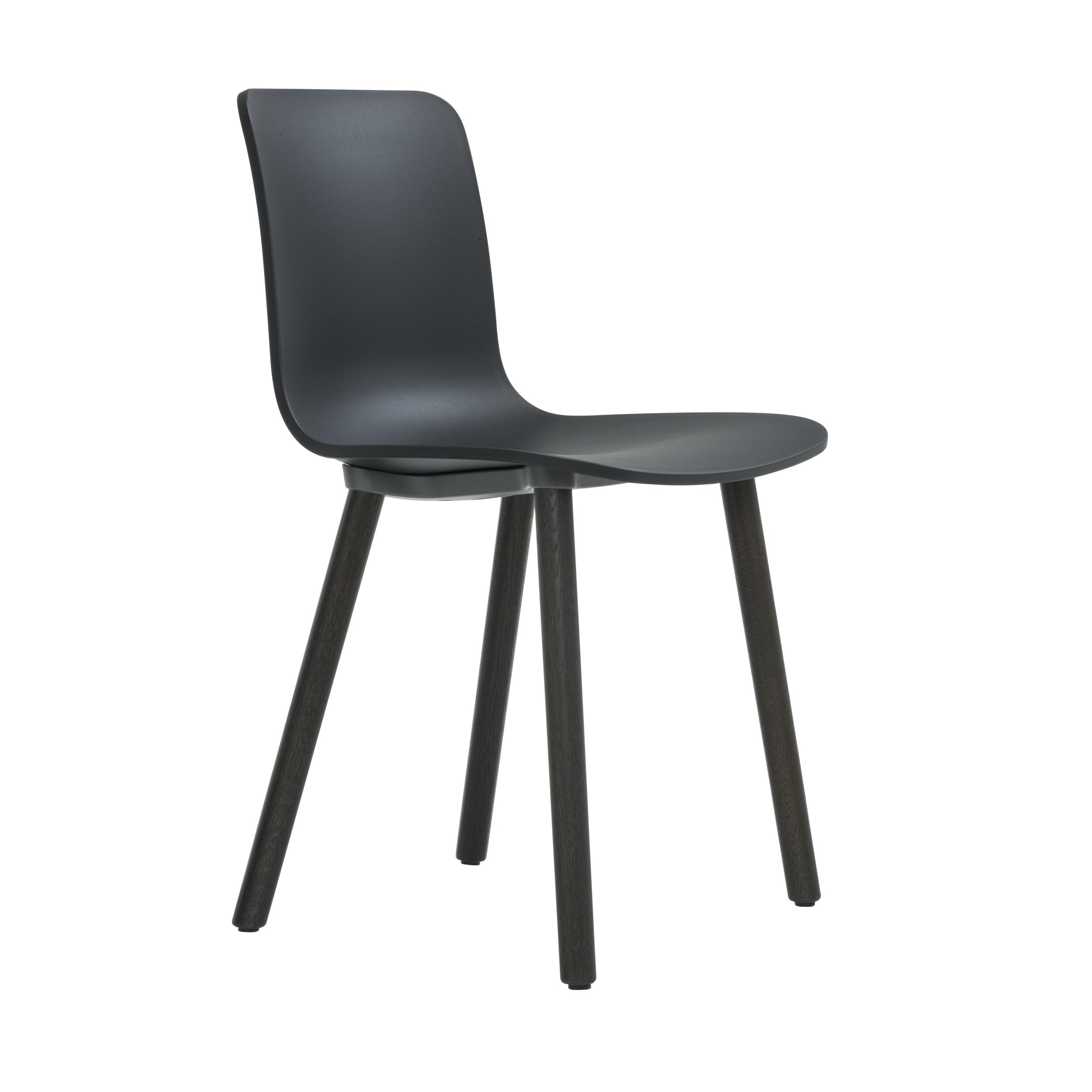 HAL Wood Stuhl mit Kunststoffgleitern
