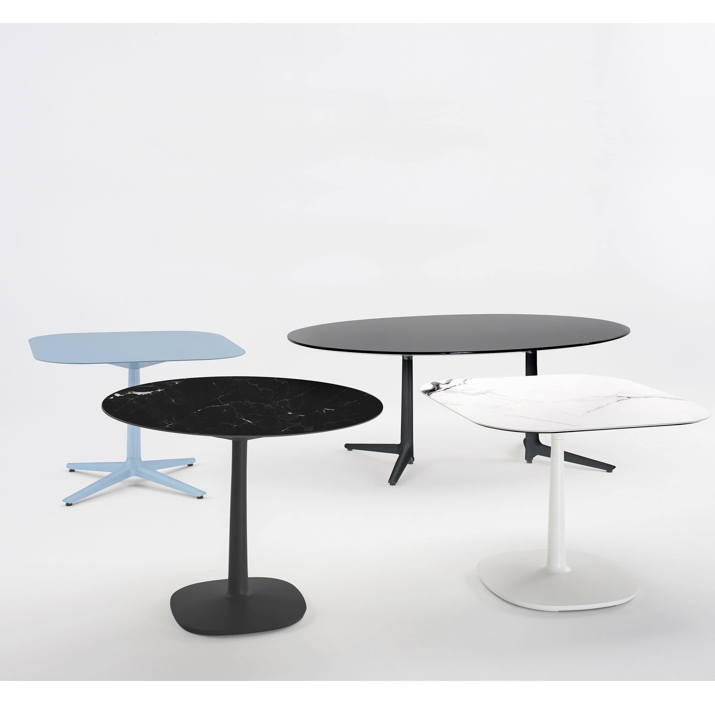 Multiplo Keramik Tisch eckig mit Rundfuß