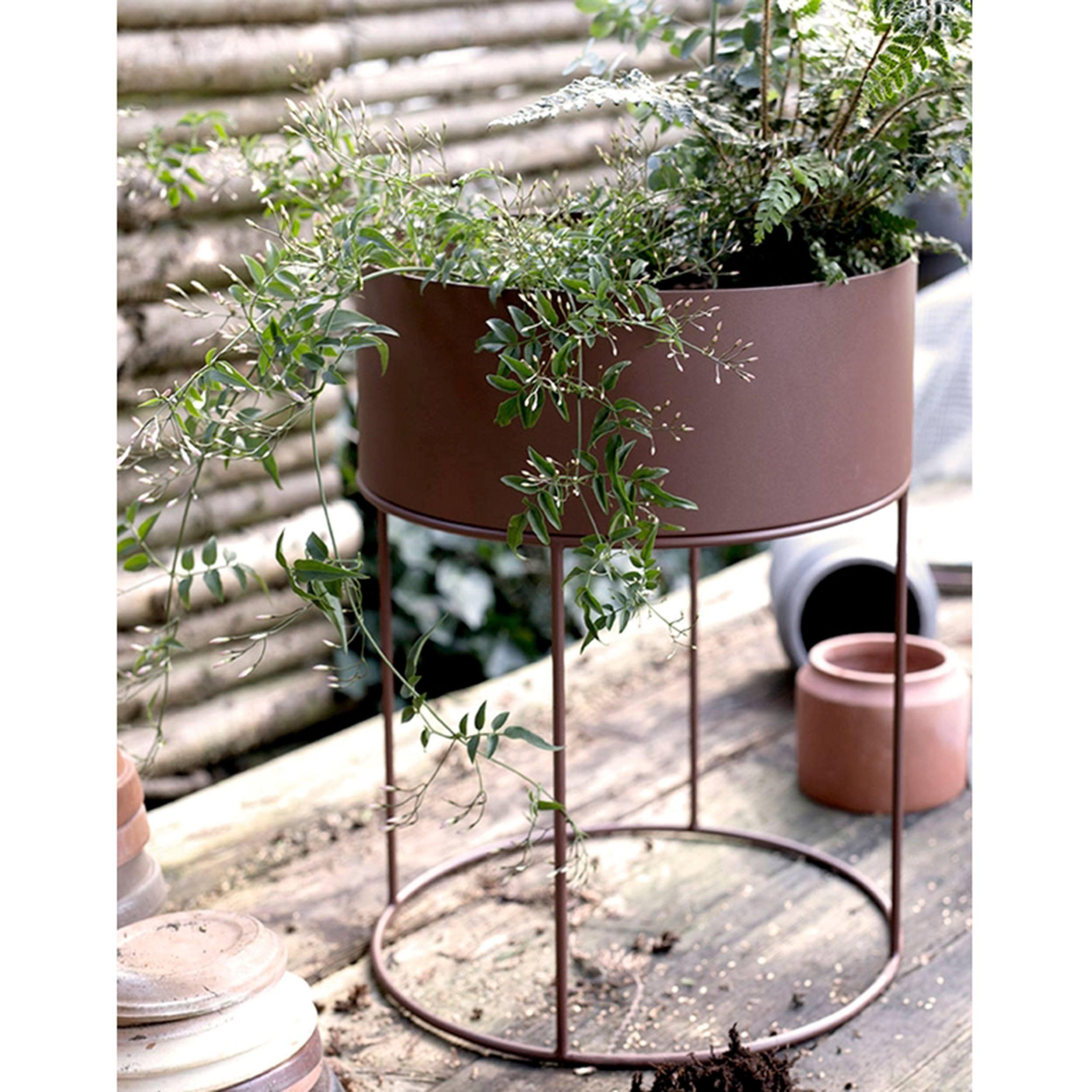 Plant Box round Blumenkasten mit Gestell