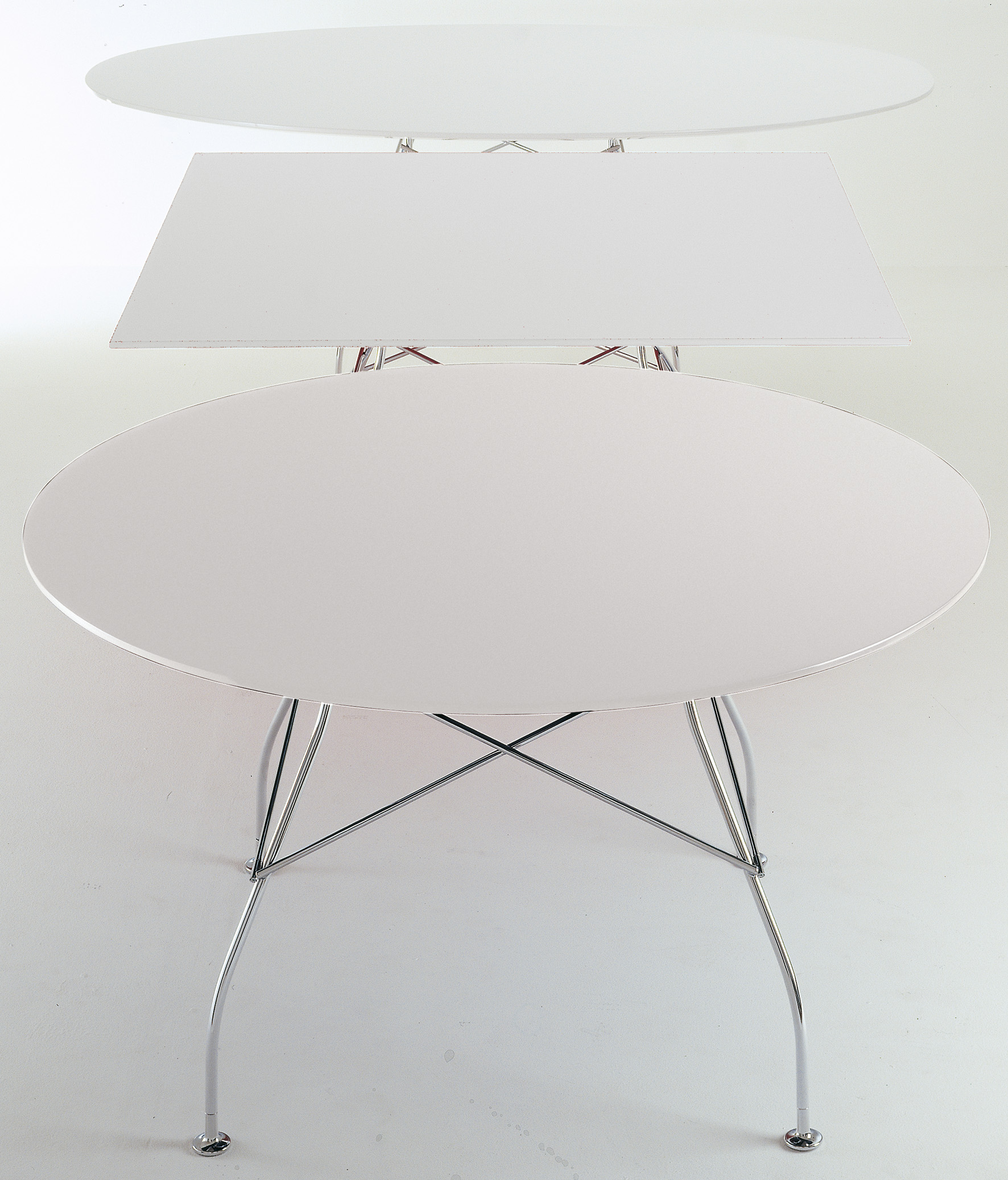 Glossy Tisch rund