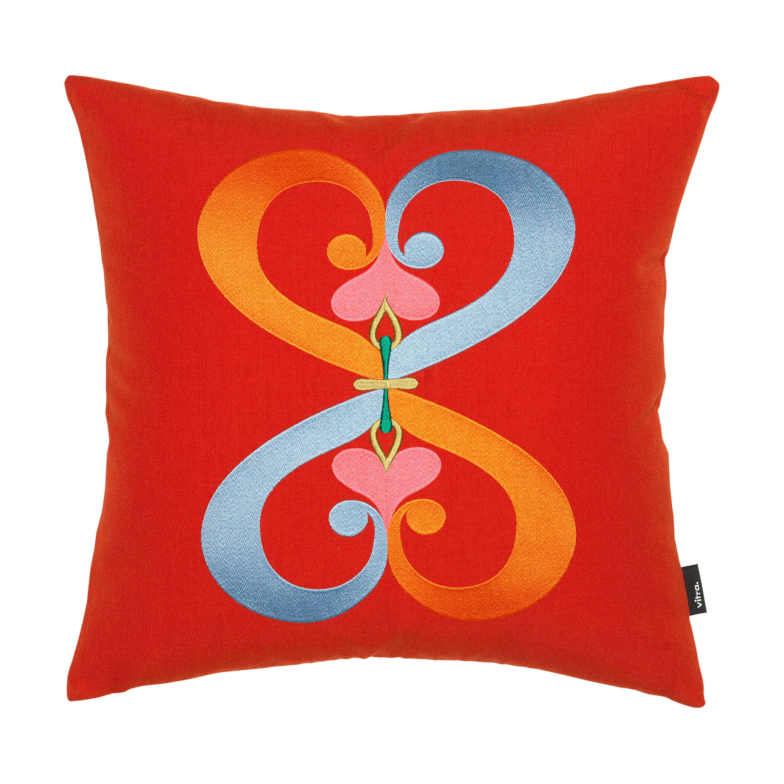 Embroidered Double Heart Kissen