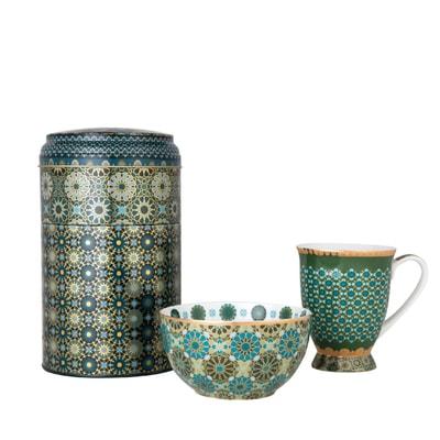 Andalusia Dose mit Tasse und Schale