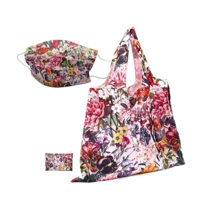 Maske Mundschutz mit Easy Bag XL Einkaufsbeutel