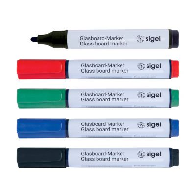 Marker für artverum® Glas-Magnetboard 5er-Set