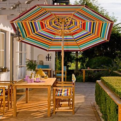Klassiker Sonnenschirm rund mit Knick ohne Schirmständer
