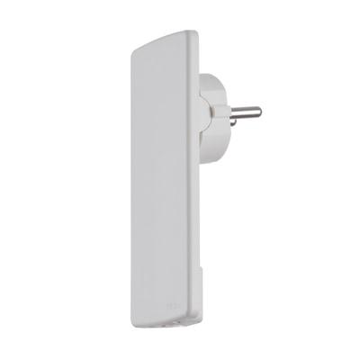 Evoline® Plug Netzstecker-Adapter mit flachem Schutzkontaktstecker