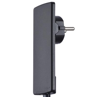 Evoline® Plug Netzstecker-Adapter mit 3fach-Steckdose