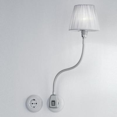 Glühwürmchen Metallikus m. gerafftem Textilschirm