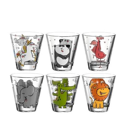 Bambini Kinderbecher Trinkglas 6er-Set
