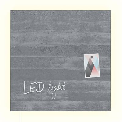 artverum® LED Glas-Magnetboard Sichtbeton