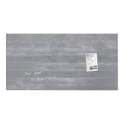 artverum® Glas-Magnetboard Sichtbeton