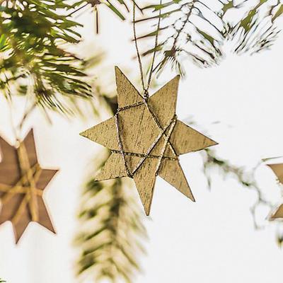 Sternengold Weihnachtsschmuck 3er-Set
