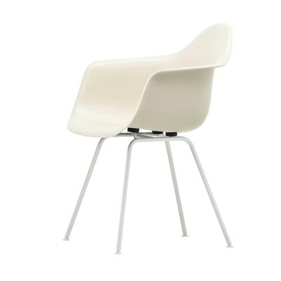 Eames Plastic Armchair Stuhl DAX Gestell weiß mit Kunststoffgleitern