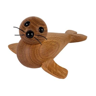 Female Seal Holzfigur