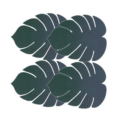 GlassMat monstera leaf Glasuntersetzer 4er-Set