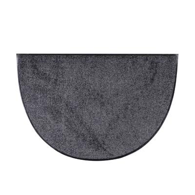 Salonlöwe Uni Fußmatte halbrund