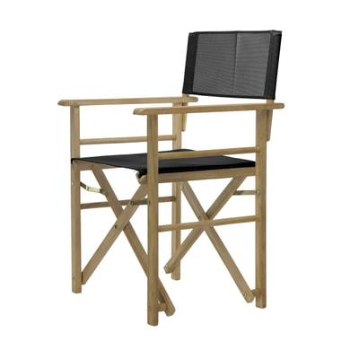 Maxx Holz-Regiesessel Kunststoffgewebe