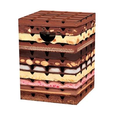 Papphocker Schokolade Hocker