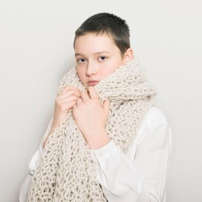 Shawl Rough Wool Schal