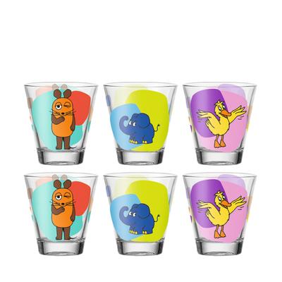 Bambini Kinderbecher Maus Elefant Ente Trinkglas 6er-Set