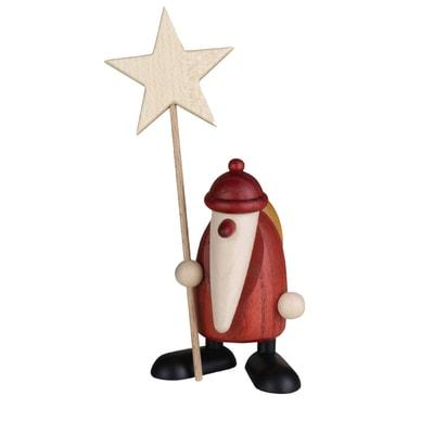 Weihnachtsmann mit Stern Figur