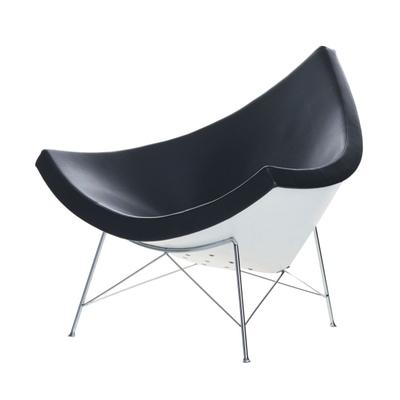 Coconut Chair Leder mit Filzgleitern