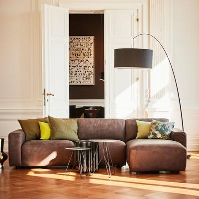 Clifden Leder 3-Sitzer Sofa mit Longchair rechts plus Sitzauszug motorisch