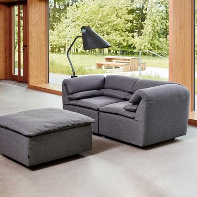 Elements Sofa 2-Sitzer mit Hocker