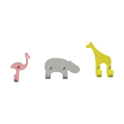 Zoo Savanna Garderobenhaken 3er-Set