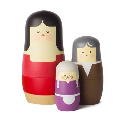 Expressions Mothers Matryoshka Holzfigur