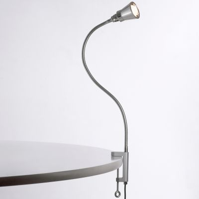 Eisenbein Klemmleuchte Alu-Kegelreflektor mit LED-Cluster-Strahler