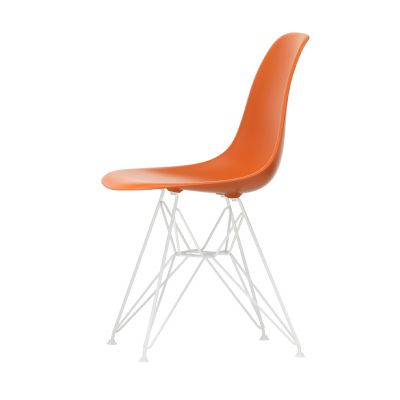 Eames Plastic Side Chair Stuhl DSR Gestell weiß mit Kunststoffgleitern