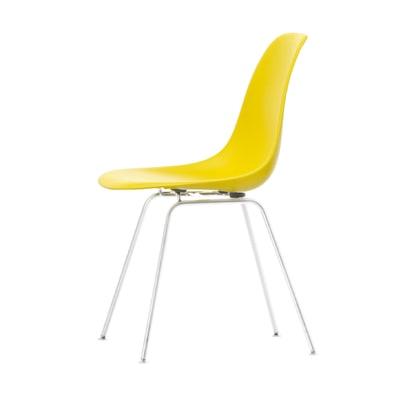 Eames Plastic Side Chair Stuhl DSX Gestell weiß mit Kunststoffgleitern