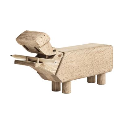 Flusspferd Holzfigur
