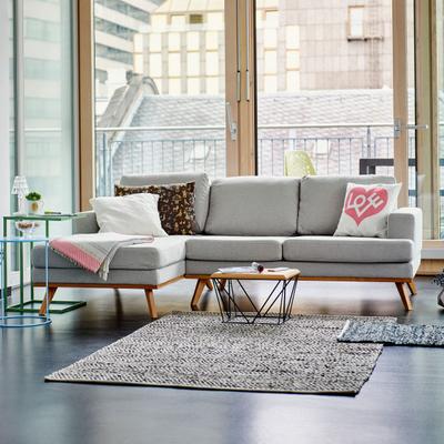 Larvik 2-Sitzer Sofa mit Longchair links