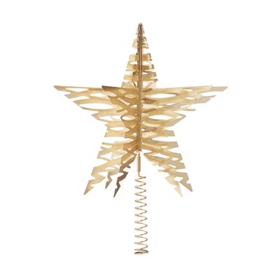 Tangle Weihnachtsstern als Baumspitze