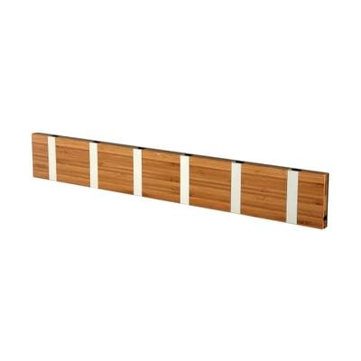 Knax 6 Bambus Garderobenleiste