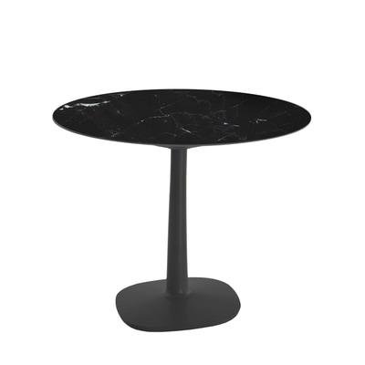 Multiplo Keramik Tisch rund mit Rundfuß