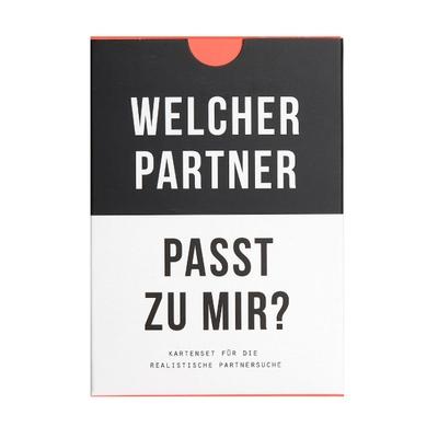 Welcher Partner passt zu mir? Kartenspiel