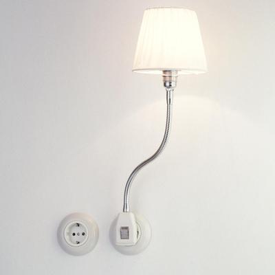 Glühwürmchen NeoClassic mit gerafftem Textilschirm