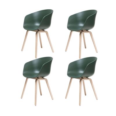 About A Chair AAC22 Stuhl geseift 4er-Set